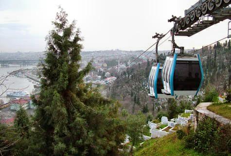 تله کابینCable car استانبول یکی از بهترین تفریحات برای عشاق