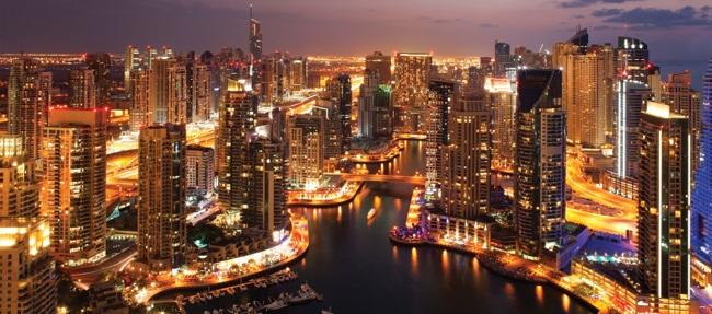 دیدار آسمان خراش های بی نظیر در منطقه دبی مارینا Dubai Marina