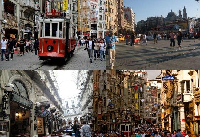 خرید در خیابان استقلال استانبول، پر جنب و جوشترین نقطهی شهر