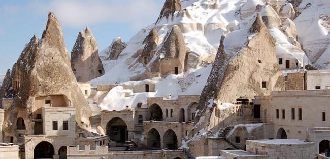 روستاهای تروگلودیت در کاپادوکیا، شهر صخرهای