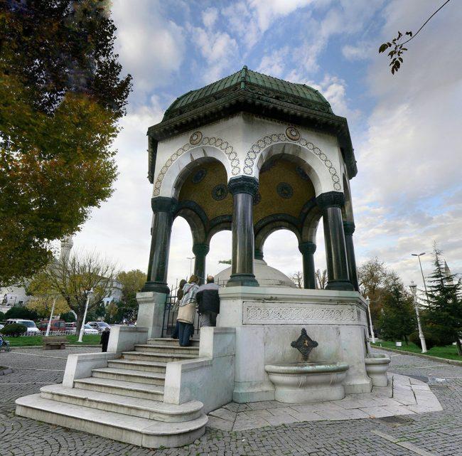 چشمه آلمانی ها در استانبول هدیه برقراری صلح میان دو کشور